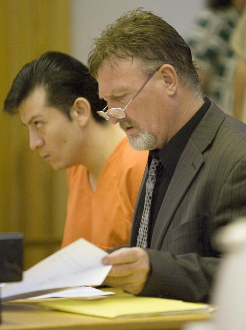 Paul Fraughton  |  Tribune file photo Defense attorney  Jim Slavens died Wednesday in a crash in Fillmore. In this June 2, 2010, photo, Slavens attends a preliminary hearing for Ruben Chavez-Reyes in 4th District Court in Fillmore.