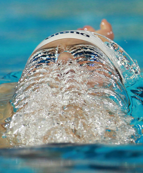 Daiya Seto of Japan competes in the men's 400 meter individual medley heat during the FINA Short Course Swimming World Championships at the Sinan Erdem Arena in Istanbul, Thursday, Dec. 13, 2012. (AP Photo/Thanassis Stavrakis)