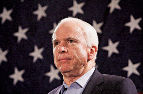 Ross D. Franklin  |  Associated Press file photo  Former presidential nominee and current U.S. Sen. John McCain, R-Ariz.