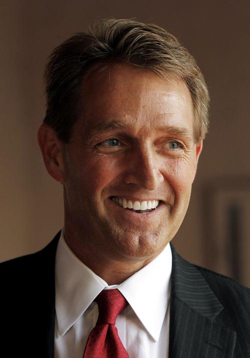 FILE - Sen.-elect. Jeff Flake, R-Ariz.  (AP Photo/Ross D. Franklin)