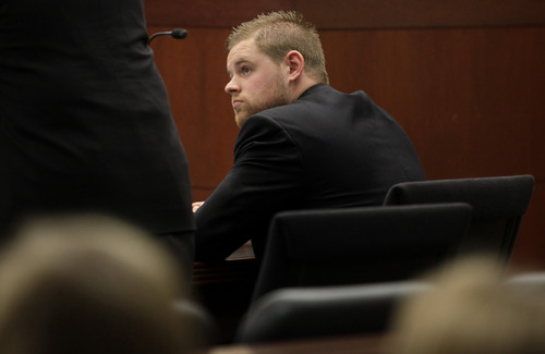 Skyler Shepherd listens to witness testimonies during his trial at the 2nd District Court in Ogden on Thursday, December 13, 2012.  (KERA WILLIAMS/ Standard-Examiner)