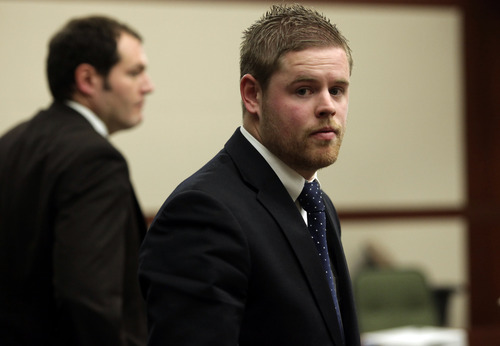 Kera Williams  |  Standard-Examiner Skyler Shepherd during his trial at the 2nd District Court in Ogden on Thursday.