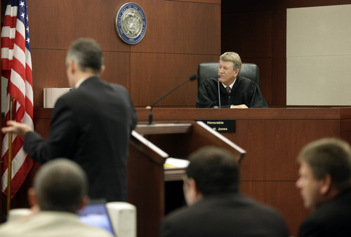 Judge Ernie w. Jones listens to testimonies from witnesses during the Skyler Shepherd trial at the 2nd District Court in Ogden on Thursday, December 13, 2012.  (KERA WILLIAMS/ Standard-Examiner)