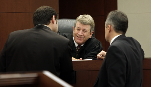 Judge Ernie W. Jones speaks to the attorneys during the Skyler Shepherd trial at the 2nd District Court in Ogden on Thursday, December 13, 2012.  (KERA WILLIAMS/ Standard-Examiner)
