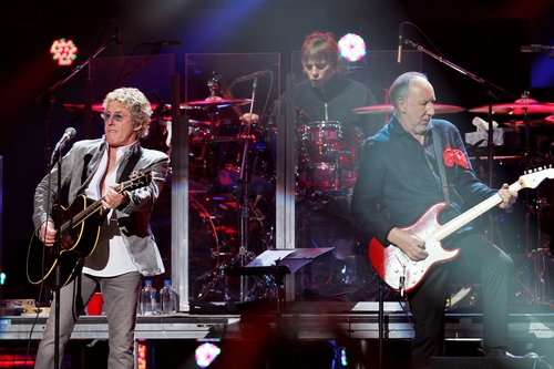 This image released by Starpix shows Roger Daltrey, left, and Pete Townshend of The Who performing at the 12-12-12 The Concert for Sandy Relief at Madison Square Garden in New York on Wednesday, Dec. 12, 2012. Proceeds from the show will be distributed through the Robin Hood Foundation. (AP Photo/Starpix, Dave Allocca)