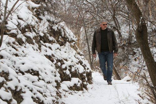 Francisco Kjolseth  |  The Salt Lake Tribune David Strayer, a professor of psychology at the University of Utah is part of research showing that spending time in nature leads to more creativity. Recently Strayer walked in City Creek Canyon, a place he regularly visits since he lives nearby. Backpackers scored 50 percent better on a creativity test after spending four days in nature disconnected from electronic devices, according to a study by psychologists from the University of Utah and University of Kansas. Strayer was a co-author of the study.