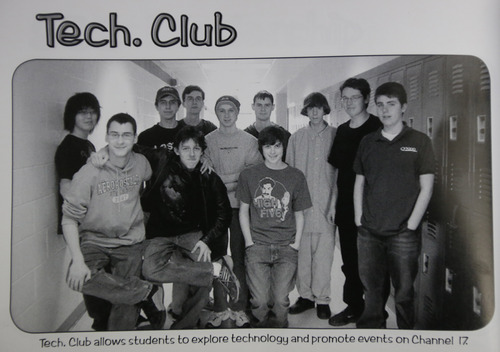 This undated photo shows Adam Lanza, third from the right, posing for a group photo of the technology club which appeared in the Newtown High School yearbook. Authorities have identified Lanza as the gunman who killed his mother at their home and then opened fire Friday, Dec. 14, 2012, inside an elementary school in Newtown, Conn., killing 26 people, including 20 children, before killing himself.  Richard Novia, a one-time adviser to the technology club, verified that the photo shows Lanza. (AP Photo)