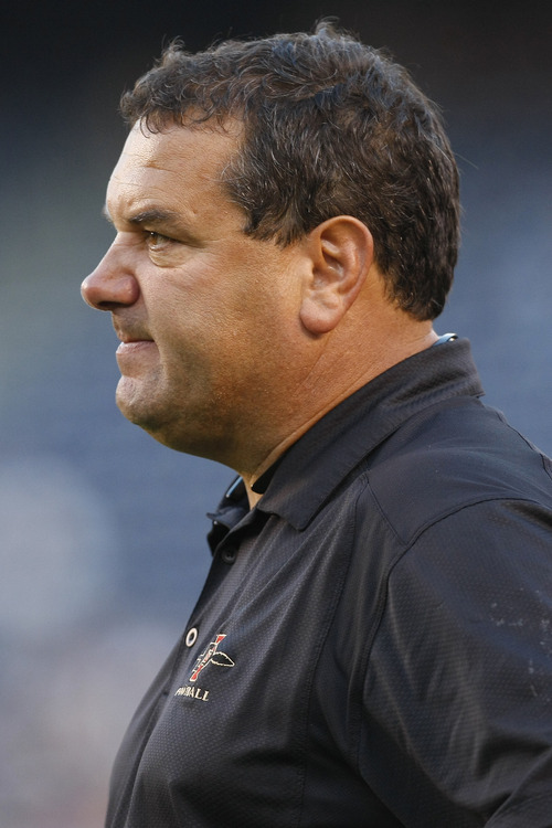 Photo by Chris Detrick  |  The Salt Lake Tribune  SDSU coach Brady Hoke watches during the second half of the game at Qualcomm Stadium Saturday October 17, 2009. BYU won the game 38-28.