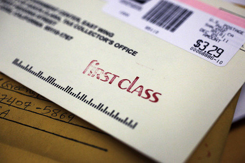 Paul Sakuma  |  The Associated Press Suggested mail-by-dates for cards and packages destined for U.S. addresses are Thursday, Dec. 20, for First Class mail; Friday, Dec. 21, for Priority Mail; and Saturday, Dec. 22, for Express Mail.