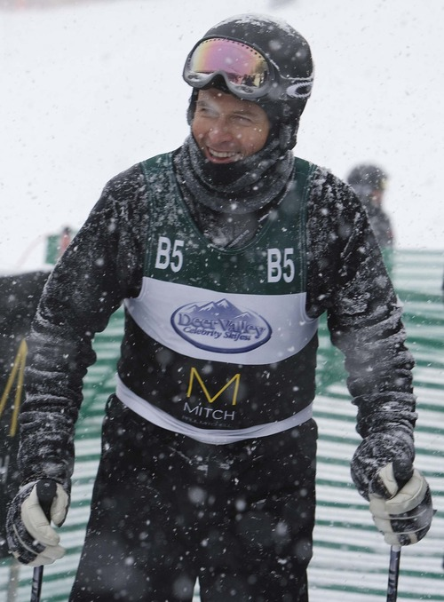 "Leah Hogsten  |  The Salt Lake Tribune Actor Tim Daly of ""Private Practice"" after his run at the Deer Valley Celebrity Skifest Saturday, December 8, 2012."