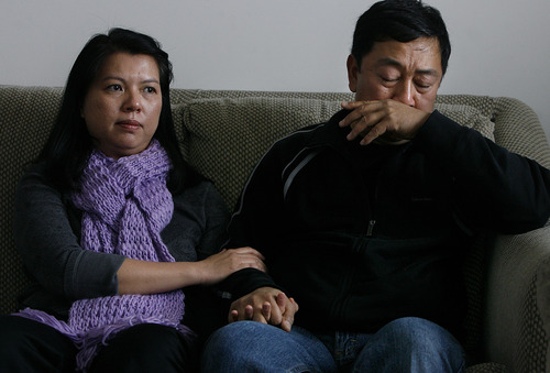 Scott Sommerdorf     The Salt Lake Tribune               The Phan family, Phuong Tran, left, and Nhuan Phan, speak out for the first time, Saturday, December 15, 2012 about why their son, 14-year-old David Phan, committed suicide on Nov. 29 at Bennion Junior High.