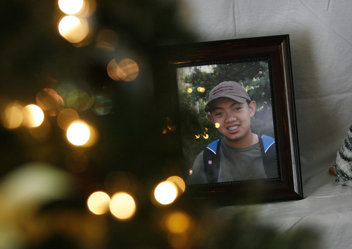 Scott Sommerdorf     The Salt Lake Tribune               A photo of David Pahn is on display in his room near a giving tree and other items from his life. The Phan family spoke out for the first time, Saturday, December 15, 2012 about why their son, 14, committed suicide on Nov. 29 at Bennion Junior High.