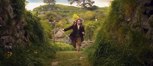 "Martin Freeman as the Hobbit Bilbo Baggins in the fantasy adventure ""The Hobbit: An Unexpected Journey."""