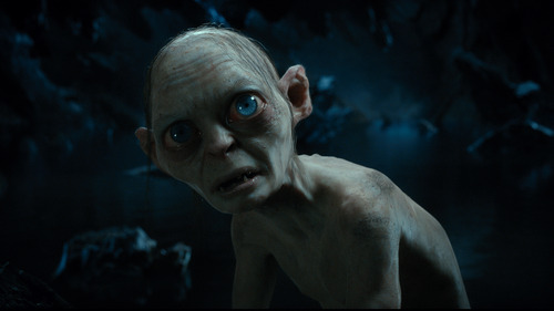 """Gollum, performed by Andy Serkis in the fantasy adventure """"The Hobbit: An Unexpected Journey."""""""