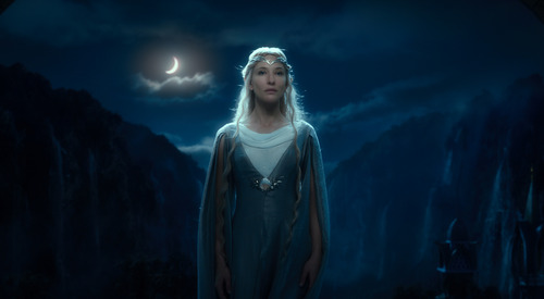 """Cate Blanchett as the Elf Queen Galadriel in the fantasy adventure  """"The Hobbit: An Unexpected Journey."""""""