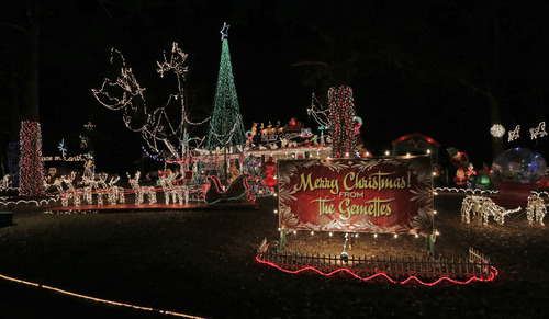 In this Tuesday, Dec. 11, 2012 photo, thousands of colorful lights and decorations fill the yard of this Montgomery, Ala., home. (AP Photo/Dave Martin)