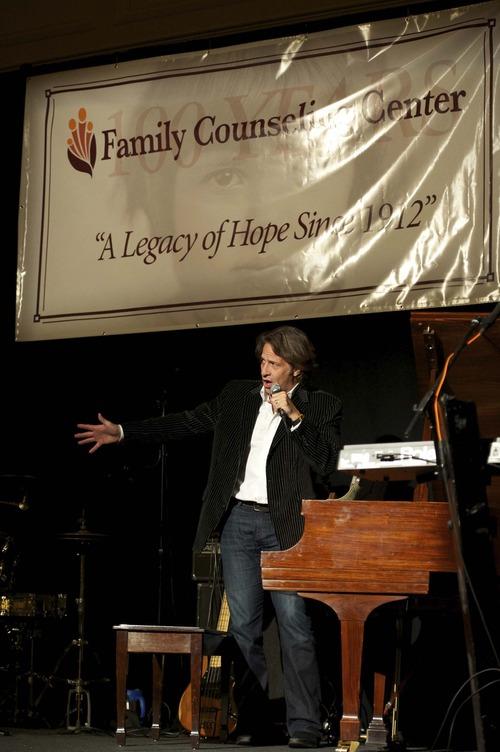 Kurt Bestor performing at the Family Counseling Center's Legacy of Hope Centennial Celebration Gala.  Photo:  Kristin Stockham.