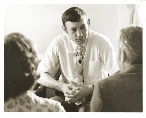 Courtesy of Family Counseling Center A Family Counseling Center therapist in the 1960s provides marriage and couples counseling.