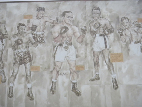 Tom Wharton  |  The Salt Lake Tribune A poster photo of former middleweight champion Gene Fullmer was part of memorabilia the family recently donated to the Gene Fullmer Recreation Center in West Jordan.
