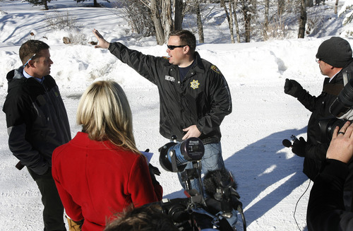Scott Sommerdorf     The Salt Lake Tribune               Summit County Sheriff Dave Edmunds describes the avalanche near the Canyons ski resort in Park City, Wednesday, December 19, 2012. At the time of his 2 p.m. briefing, he announced that they had no information that there were any skiers missing, or presumed trapped.