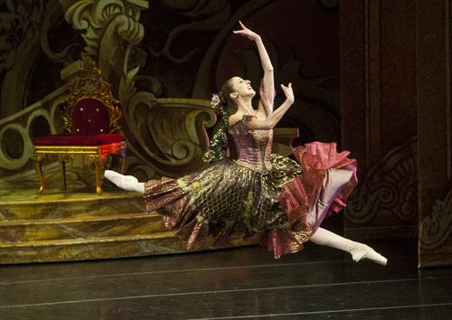 "Chris Detrick  |  The Salt Lake Tribune Ballet West's Allison DeBona performs in ""The Nutcracker"" at the Browning Center at Weber State University Wednesday November 21, 2012."