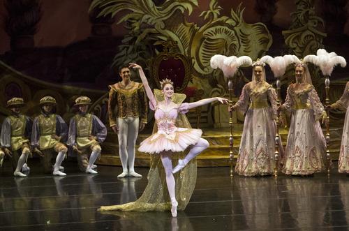 "Chris Detrick  |  The Salt Lake Tribune Ballet West's Christiana Bennett and Christopher Ruud perform in ""The Nutcracker"" at the Browning Center at Weber State University Wednesday November 21, 2012."