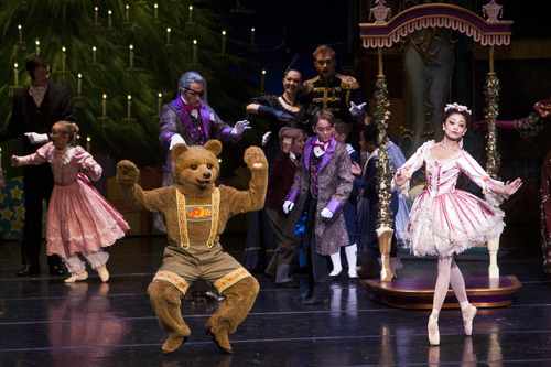 "Chris Detrick  |  The Salt Lake Tribune Ballet West's Sayaka Ohtaki performs in ""The Nutcracker"" at the Browning Center at Weber State University Wednesday, November 21, 2012."
