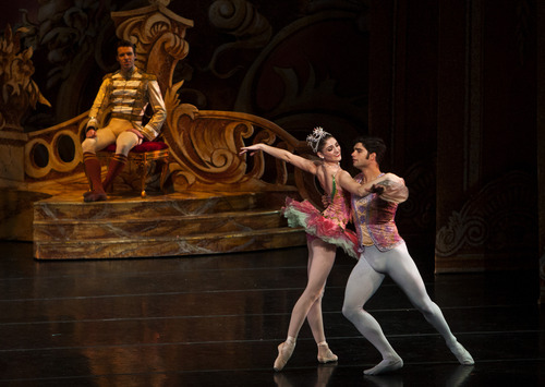 "Chris Detrick  |  The Salt Lake Tribune Ballet West's Emily Adams and Rex Tilton perform in ""The Nutcracker"" at the Browning Center at Weber State University Wednesday November 21, 2012."