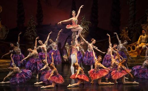 "Chris Detrick  |  The Salt Lake Tribune Ballet West's Emily Adams and Rex Tilton perform in ""The Nutcracker"" at the Browning Center at Weber State University Wednesday, November 21, 2012."