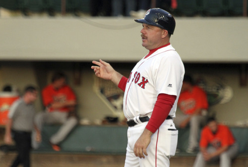 Bill Wanless | Pawtucket Red Sox Arnie Beyeler is a Moab native who was hired this year to coach first base for the Boston Red Sox.
