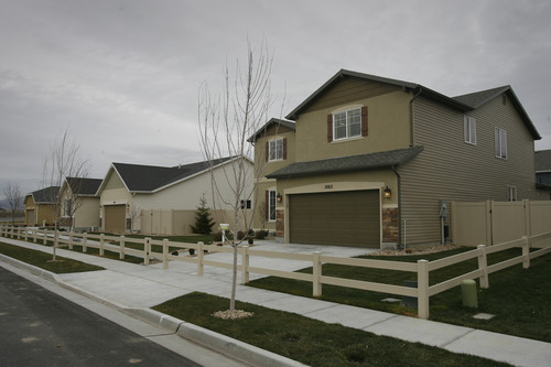Rick Egan  | The Salt Lake Tribune   Woodside Model Homes in the Foxboro subdivision, on Danby Drive, in the Foxboro North Community of North Salt Lake, Wednesday, December 12, 2012. Woodside Homes is a North Salt Lake-based builder and one of the biggest home builders in the U.S.
