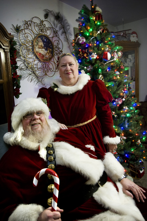 Kim Raff  |  The Salt Lake Tribune Santa Claus and his wife Alise Claus at their home in Murray on Dec. 23, 2012.  Claus legally changed his name from David Lynn Porter after a lengthy court battle.