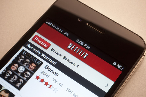 With the Netflix free app, you can choose what to watch and just start it up with the press of the screen. Scott Eells/Bloomberg