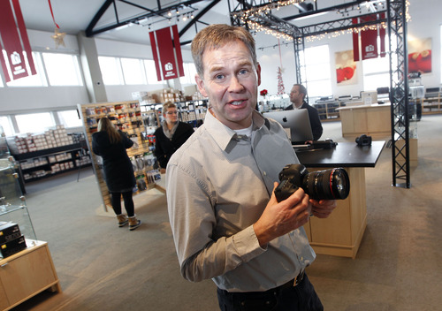 Al Hartmann  |  The Salt Lake Tribune Jens Nielsen owner of Pictureline, a camera store in Salt Lake City opened his store as a one-man operation in 1989 and has since expanded it to 20-plus employees.