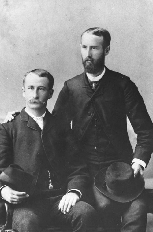 Photo Courtesy Utah State Historical Society  J. Golden Kimball, future general authority of The Church of Jesus Christ of Latter-day Saints, and his missionary companion.
