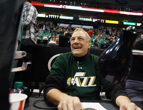 Trent Nelson  |  The Salt Lake Tribune Dan Roberts has been the Jazz's arena announcer since the franchise moved to Utah in 1979.