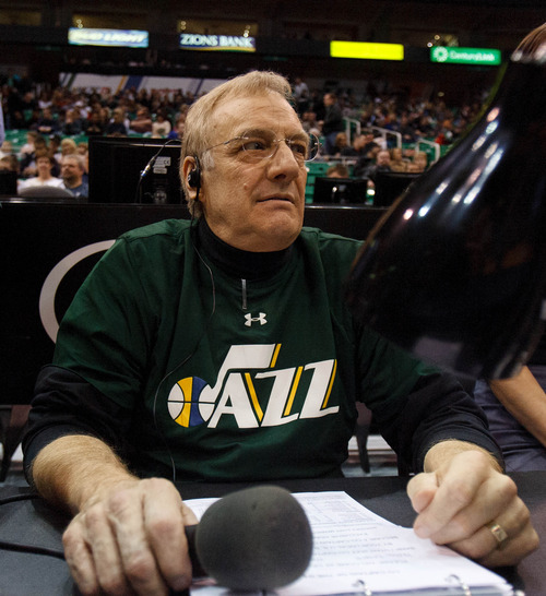 Trent Nelson  |  The Salt Lake Tribune Utah Jazz announcer Dan Roberts' day job? He has owned Dan Roberts Kitchen and Bath since the 1970s.