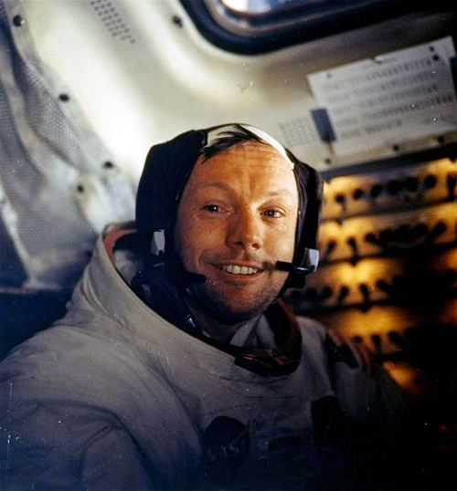 """This July 20, 1969 file photo provided by NASA shows Neil Armstrong.  The family of Neil Armstrong, the first man to walk on the moon, says he has died at age 82. A statement from the family says he died following complications resulting from cardiovascular procedures. It doesn't say where he died. Armstrong commanded the Apollo 11 spacecraft that landed on the moon July 20, 1969. He radioed back to Earth the historic news of """"one giant leap for mankind."""" Armstrong and fellow astronaut Edwin """"Buzz"""" Aldrin spent nearly three hours walking on the moon, collecting samples, conducting experiments and taking photographs. In all, 12 Americans walked on the moon from 1969 to 1972.  (AP Photo/NASA)"""
