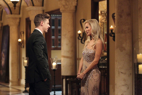 "Courtesy photo Jef Holm meets Emily Maynard for the first time on ""The Bachelorette."""