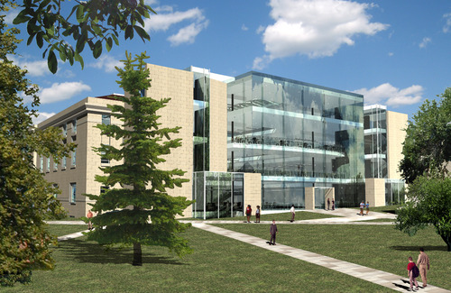 Architectural Rendering Of The Planned Crocker Science Building. Courtesy  Of The University Of Utah