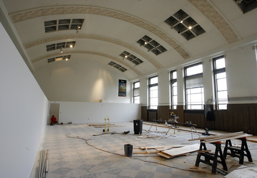 Rick Egan  |  The Salt Lake Tribune  The reading room in the old George Thomas library, which later became the Natural History Museum. The building will soon be a temporary dance studio and eventually will be the home of a high-tech cell lab.