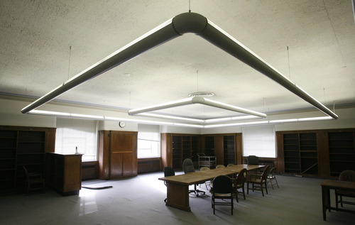 Rick Egan  | The Salt Lake Tribune  An upstairs room in the old George Thomas library building, which later became the Natural History Museum. The building is soon to be a temporary dance studio, and eventually will be the home of a high-tech cell lab.