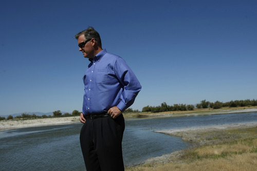 Chris Detrick | Tribune file photo Salt Lake County Mayor Peter Corroon looks over the South Shore Preserve on the Great Salt Lake on Wednesday July 8, 2009. The National Audubon Society opened the flood gates on the old Jordan River Delta west of the airport to help create a new wetland for Great Salt Lake bird populations.
