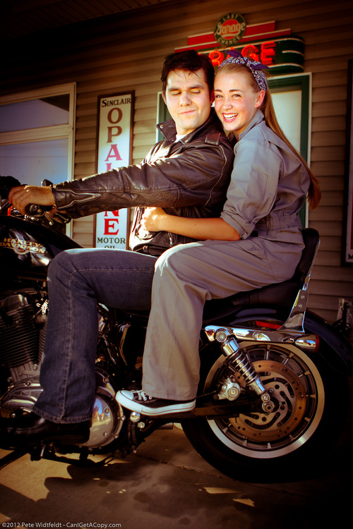 """Jordan Dickison plays Chad and T'Naiha Ellis plays Natalie/Ed in SCERA's production of the Elvis-inspired """"All Shook Up"""" that will play from July 6 to July 21 in Orem at the SCERA Shell Outdoor Theatre. Credit: Pete Eidfeldt"""