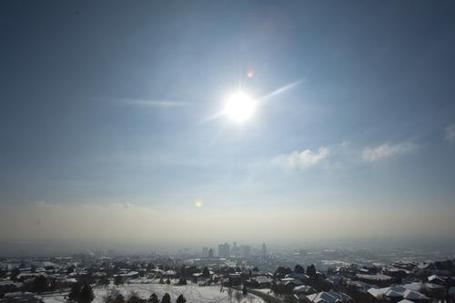 Chris Detrick     The Salt Lake Tribune The inversion as seen from Vista Mound near Ensign Peak Wednesday January 2, 2013.