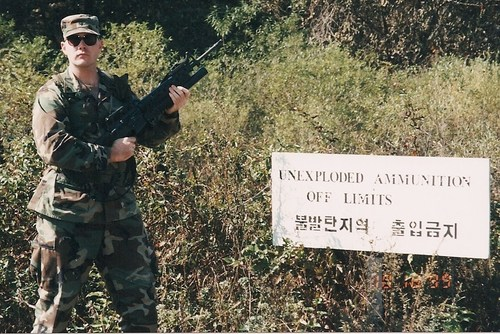 A young Patrick Kelly of Salt Lake City spent time on a range just south of the North Korean Border. Courtesy Pat Kelly