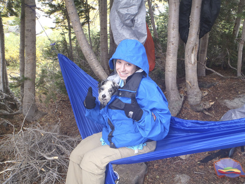 Shannon Mallard with the family's pet Jack Russell terrier Scout. The family believes a coyote snatched Scout on a trail near Ensign Peak on Friday morning. Courtesy image