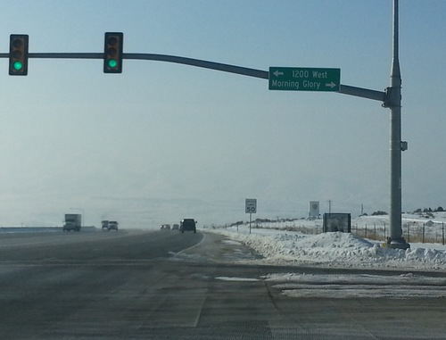 Morning Glory Road in Lehi will soon be replaced with new street signs. Credit: Cimaron Neugebauer.
