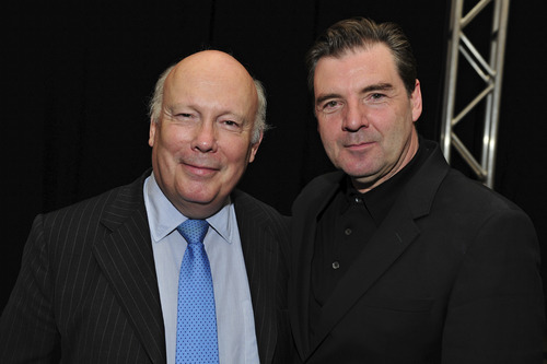 "Courtesy photo ""Downton Abbey"" creator, writer and executive producer Julian Fellowes, left, and Brendan Coyle, who stars as Mr. Bates."