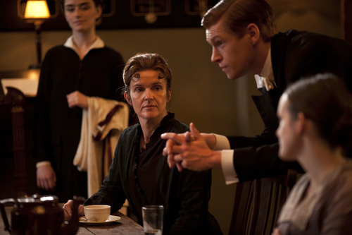"Siobhan Finneran as Miss O'Brien and Matt Milne as Alfred in Season 3 of ""Downton Abbey."" Credit: Courtesy of Carnival Film & Television Limited 2012 for MASTERPIECE"